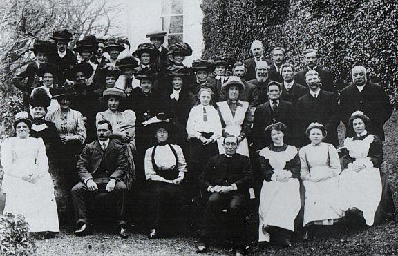 servants at Coedmor Mansion